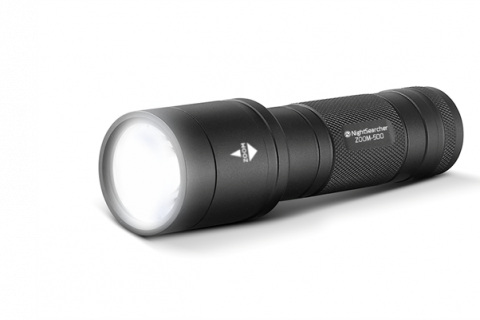 Nightsearcher ZOOM 500 Spot-to-Flood Flashlight