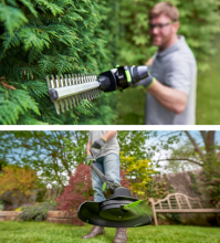 Gtech cordless hedge trimmer and grass trimmer